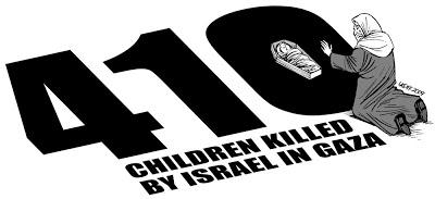 410 children killed by Israel in Gaza