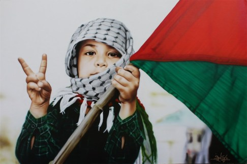 Palestine_Children_Freedom_Victory_Sign_Flag_Resistence_Intifada